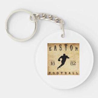 1882 Easton Pennsylvania Football Double-Sided Round Acrylic Keychain