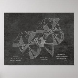 1882 Flying Machine Airplane Patent Drawing Print