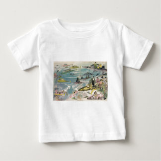 1882 Futuristic View of Air Travel Over Paris Baby T-Shirt