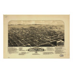 1882 Greeley, CO Birds Eye View Panoramic Map Print
