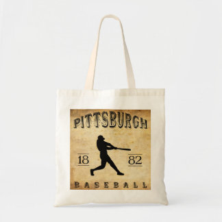 1882 Pittsburgh Pennsylvania Baseball Tote Bags