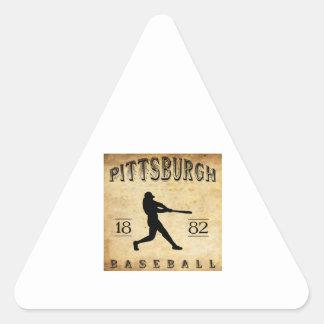 1882 Pittsburgh Pennsylvania Baseball Triangle Sticker