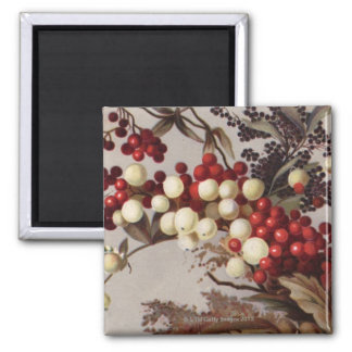 1882: Traditional holly berries Magnet