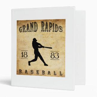 1883 Grand Rapids Michigan Baseball 3 Ring Binder