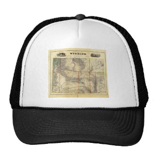 1883 Holt s New Map of Wyoming by Frank Bond Trucker Hat