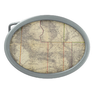 1883 Holt's New Map of Wyoming by Frank Bond Belt Buckle