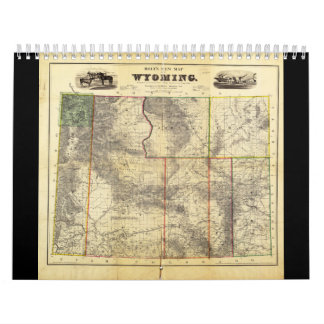 1883 Holt's New Map of Wyoming by Frank Bond Calendar