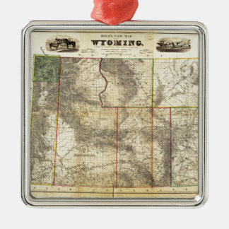 1883 Holt's New Map of Wyoming by Frank Bond Metal Ornament