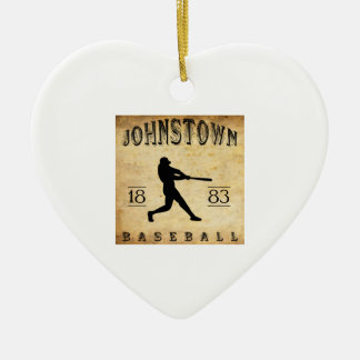 1883 Johnstown Pennsylvania Baseball Ceramic Ornament