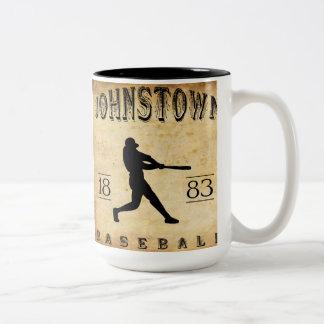 1883 Johnstown Pennsylvania Baseball Two-Tone Coffee Mug