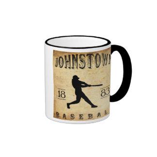 1883 Johnstown Pennsylvania Baseball Ringer Coffee Mug