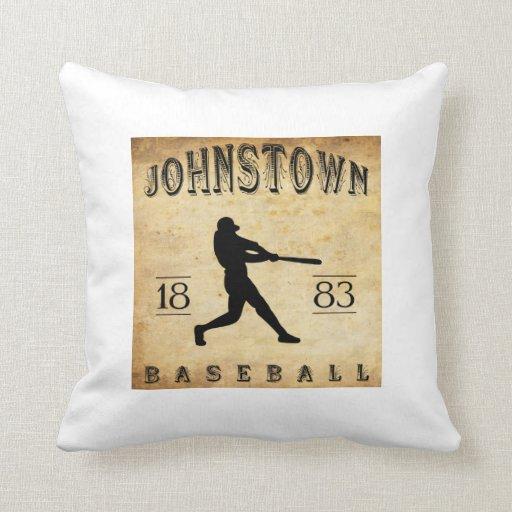 1883 Johnstown Pennsylvania Baseball Pillows