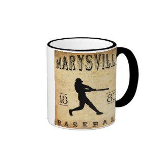 1883 Marysville California Baseball Ringer Mug
