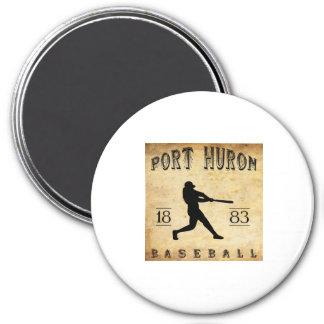 1883 Port Huron Michigan Baseball 3 Inch Round Magnet