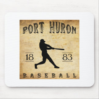 1883 Port Huron Michigan Baseball Mouse Pad