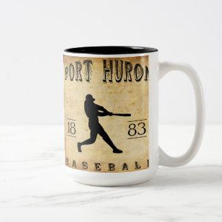 1883 Port Huron Michigan Baseball Two-Tone Coffee Mug