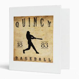 1883 Quincy Illinois Baseball 3 Ring Binder