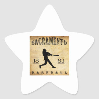 1883 Sacramento California Baseball Star Sticker
