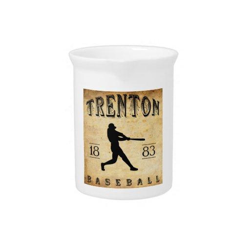 1883 Trenton New Jersey Baseball Drink Pitchers