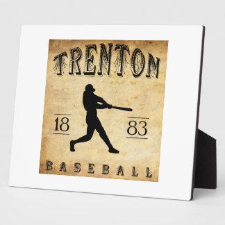 1883 Trenton New Jersey Baseball Plaque