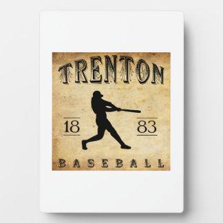 1883 Trenton New Jersey Baseball Display Plaque