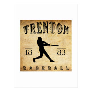 1883 Trenton New Jersey Baseball Postcard