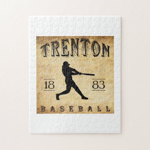 1883 Trenton New Jersey Baseball Puzzle
