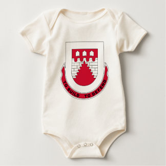 1883rd Engineering Battalion Patch Baby Bodysuit