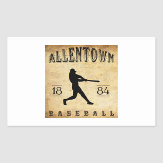 1884 Allentown Pennsylvania Baseball Rectangular Sticker