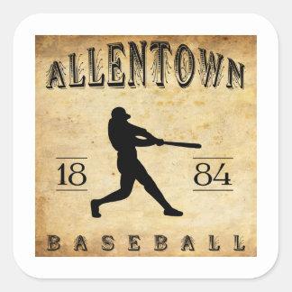 1884 Allentown Pennsylvania Baseball Square Sticker
