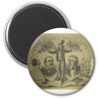 1884 Cleveland - Thurman 2 Inch Round Magnet