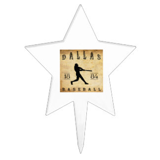 1884 Dallas Texas Baseball Cake Picks