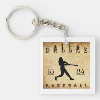 1884 Dallas Texas Baseball Acrylic Key Chains