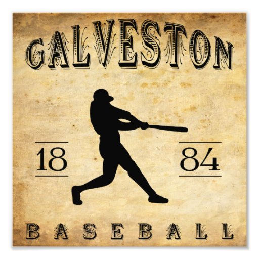 1884 Galveston Texas Baseball Photo Print