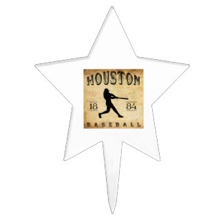 1884 Houston Texas Baseball Cake Picks