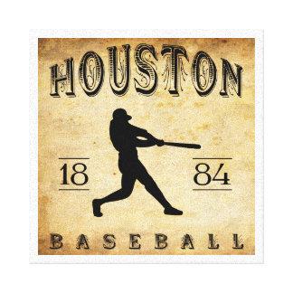 1884 Houston Texas Baseball Stretched Canvas Prints