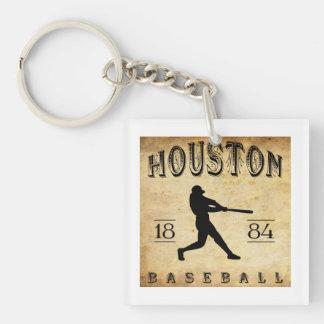 1884 Houston Texas Baseball Square Acrylic Keychains