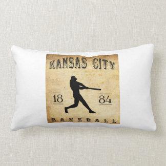 1884 Kansas City Missouri Baseball Pillow