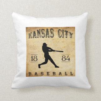1884 Kansas City Missouri Baseball Pillows