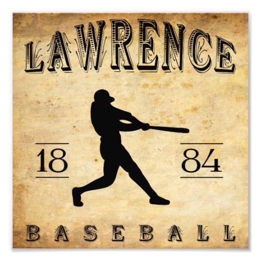 1884 Lawrence Massachusetts Baseball Art Photo