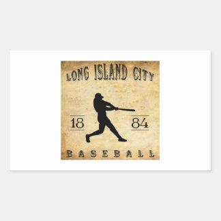 1884 Long Island City New York Baseball Rectangular Sticker