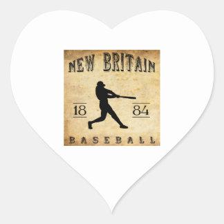 1884 New Britain Connecticut Baseball Heart Sticker