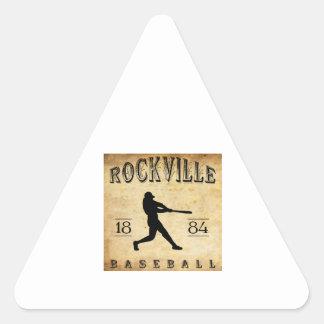 1884 Rockville Connecticut Baseball Triangle Sticker