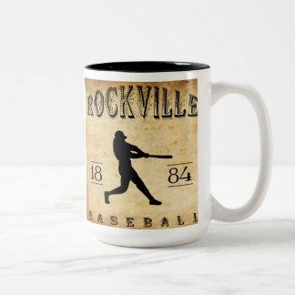 1884 Rockville Connecticut Baseball Two-Tone Coffee Mug