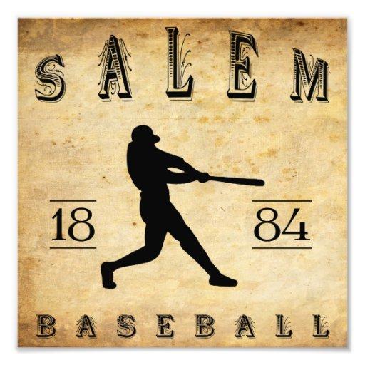 1884 Salem Massachusetts Baseball Photo Print