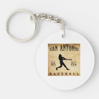 1884 San Antonio Texas Baseball Acrylic Key Chain