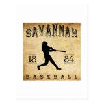 1884 Savannah Georgia Baseball Postcard