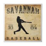1884 Savannah Georgia Baseball Tile