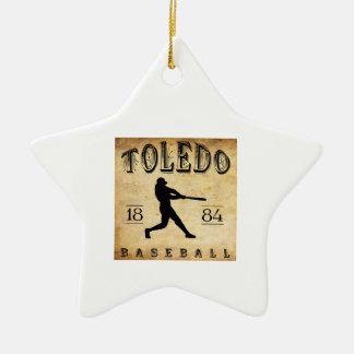 1884 Toledo Ohio Baseball Christmas Tree Ornaments