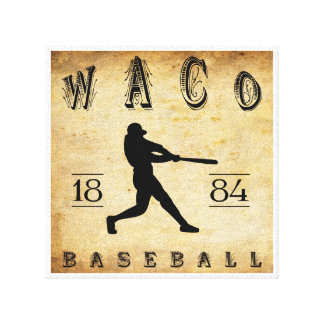 1884 Waco Texas Baseball Stretched Canvas Print